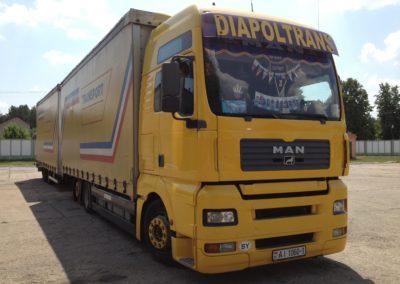 Машины для перевозки грузов компании ДИАПОЛТРАНС